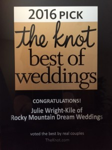 Best of THE KNOT 2016 plaque photo